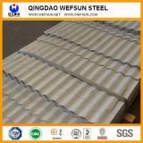 장 당 가격이 회색과 백색 물결 모양 지붕에 의하여 시트를 깐다