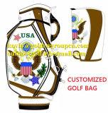 Los bolsos de golf de cuero de la manera de los hombres de bolsos del carrito del golf del cocodrilo modificaron el bolso de golf para requisitos particulares