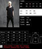 Camisa redonda desgastando da garganta T da luva curta do Zipper da juventude coreana multi