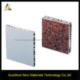 Декоративная панель сота мрамора и плакирования фасада цвета утеса алюминиевая