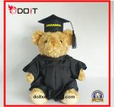 Urso enchido macio super da peluche do luxuoso da graduação