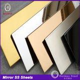 Самый последний металлический лист зеркала нержавеющей стали для панелей нутряной стены
