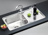 Steel inoxidable Sink en el sitio de The Kitchen