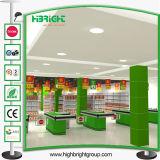 Prateleira da gôndola do supermercado do estilo da forma para o indicador