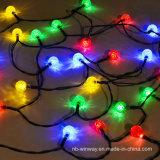 25 luces al aire libre solares coloridas decorativas de la cadena del partido LED del LED