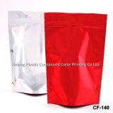 Bolso de café común llano de la cremallera con la cremallera