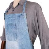 Delantal azul del camarero del dril de algodón de las señoras durables de encargo profesionales para el restaurante