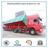 De zij Aanhangwagen van de Kipwagen met 3 Assen voor het Vervoer van de Lading van Leverancier