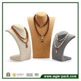 Soporte de visualización retro del collar de la cuerda del cáñamo del estilo