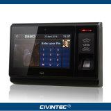 カメラおよび李電池と険しいスマートなWiFi 3G Bluetoothの人間の特徴をもつ指紋の時間出席NFCのタブレット