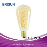 Bulbo suave decorativo retro del filamento de la luz St64/G80/G95/G125 Clear&Amber E27&B22 LED