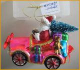 Корабль стекла рождества Santa Claus бутика