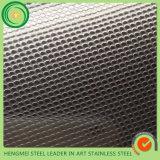 Lamiera sottile di acciaio inossidabile decorativa di goffratura di qualità migliore di 304 tessiture