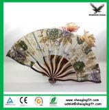 Ventilateur en bambou de main de tissu d'Interpréteur de commandes interactif-Haped pour Madame