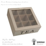 Коробки чая Hongdao крышка и шарниры деревянной стеклянная