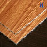 インテリア・デザインACPシートにパネルをはめる木製の壁