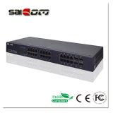 Interruttore di gigabit di Saicom (SCPOE2-4G24E) 1000M SC/SFP/RJ45 24 Poe