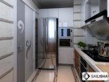 UVVaneer moderne Haupthotel-Möbel-Insel-hölzerner Küche-Schrank