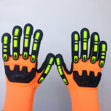 Нейлон нитрила Sandy/перчатки безопасности Lycra с шить TPR&Sponges