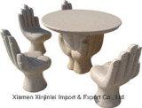 Jardim ao ar livre personalizado Table&Bench redondo do granito