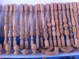 Diâmetro 300mm, escadaria Hanerail do comprimento 1500mm e cerca e máquina de madeira do torno da coluna