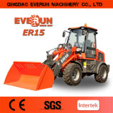 CE Approved 1.5ton Articulated Mini Wheel Loader Farm Machinery di Everun Brand