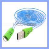 Flaches Blitz-Lächeln-Gesicht 8pin der Nudel-LED USB-Aufladeeinheits-Kabel für iPhone 7