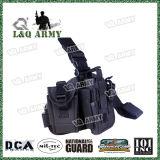Pistolera versátil táctica del arma de la pierna de la gota de la pistola del Qd R de Airsoft Molle con la bolsa de radio