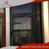 Guichet en aluminium de tissu pour rideaux de profil en métal bon marché de haute qualité avec la double glace