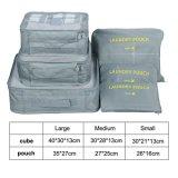 poche résistante d'organisateur de bagage de course de sacs de mémoire de vêtements de l'eau 6PCS