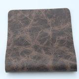 Cuero superficial de la PU del Faux de los muebles del grano que vetea para la tapicería del sofá (F8003)