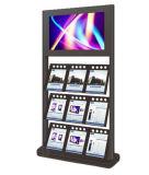 Un visualizzatore digitale 32 di pollice di giornale del chiosco LED del comitato che fa pubblicità al contrassegno di Digitahi del riproduttore video