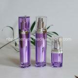 bouteille 15/50ml acrylique pourprée avec la pompe de lotion pour les produits de beauté (PPC-NEW-093)