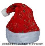 Chapeaux de estampage chauds de Noël de Snowflower estampés par tissu pour l'adulte