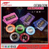 Jogos de primeira qualidade da microplaqueta do póquer com personalizado