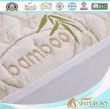 Bambusmatratze-Schoner mit befestigtem Fußleisten-König Size