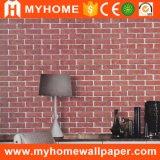 Het moderne 3D Behang van het Huis van pvc van de Woonkamer van het Ontwerp van de Baksteen van de Stijl Materiële