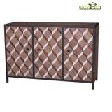 Tableau industriel antique en bois solide de type avec des meubles de décor de maison de bâti en métal
