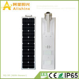 30W tout dans un réverbère Integrated d'énergie solaire de DEL avec le prix usine