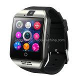 Q18 teléfono de Smartwatch de la llamada de teléfono del soporte NFC Bluetooth G/M