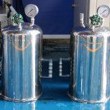 5 litros dos de pareado de las fermentadoras de cristal (en autocalve)