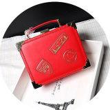 De vierkante Handtas van het Leer van de Vorm van de Doos Echte met Vrouwen Emg5083 van de Zak van de Ketting van de Schouder van het Kenteken de Lange