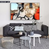 Art de mur de rue Cool Pop Star Portrait Canvas Prints