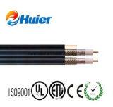 Cable coaxial RG6 dual de la UL ETL con el mensajero