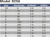Stärke 5-500 Modell-Sc-56 wärmen 0.8-1.4 schneidendüse vor