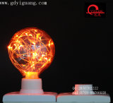 Ampoule colorée spéciale du matériau G80 de DEL d'étoile de câblage cuivre jaune d'ampoules