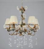 BlumenFaric Farbton-keramischer Blumen-Kristall-Leuchter