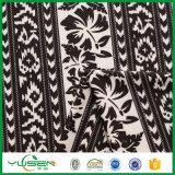 Las hojas de Black&White imprimieron la tela del traje de baño del Spandex para las mujeres
