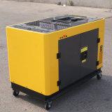 Bisonte (China) BS12000t 10kw por muito tempo - funcionar a fase monofásica industrial Diesel silenciosa 380V 50Hz do gerador 10kVA do tempo