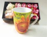 Tasses de café blanches en céramique rondes bon marché de porcelaine/tasses blanches ordinaires de Chine d'os